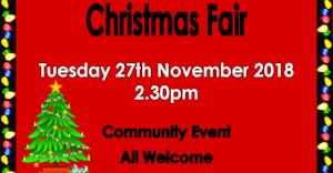 Dartmouth Academy Christmas Fair - Tuesday 27th November  at 2.30pm - All Welcome!