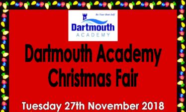 Dartmouth Academy Christmas Fair - Tuesday 27th November 2.30pm - All Welcome