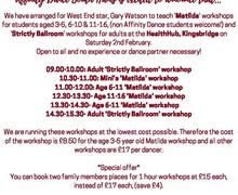 West end dance workshops
