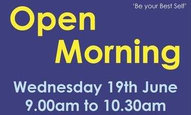 Open Morning - Wednesday 19th June from 9.00am to 10.30am