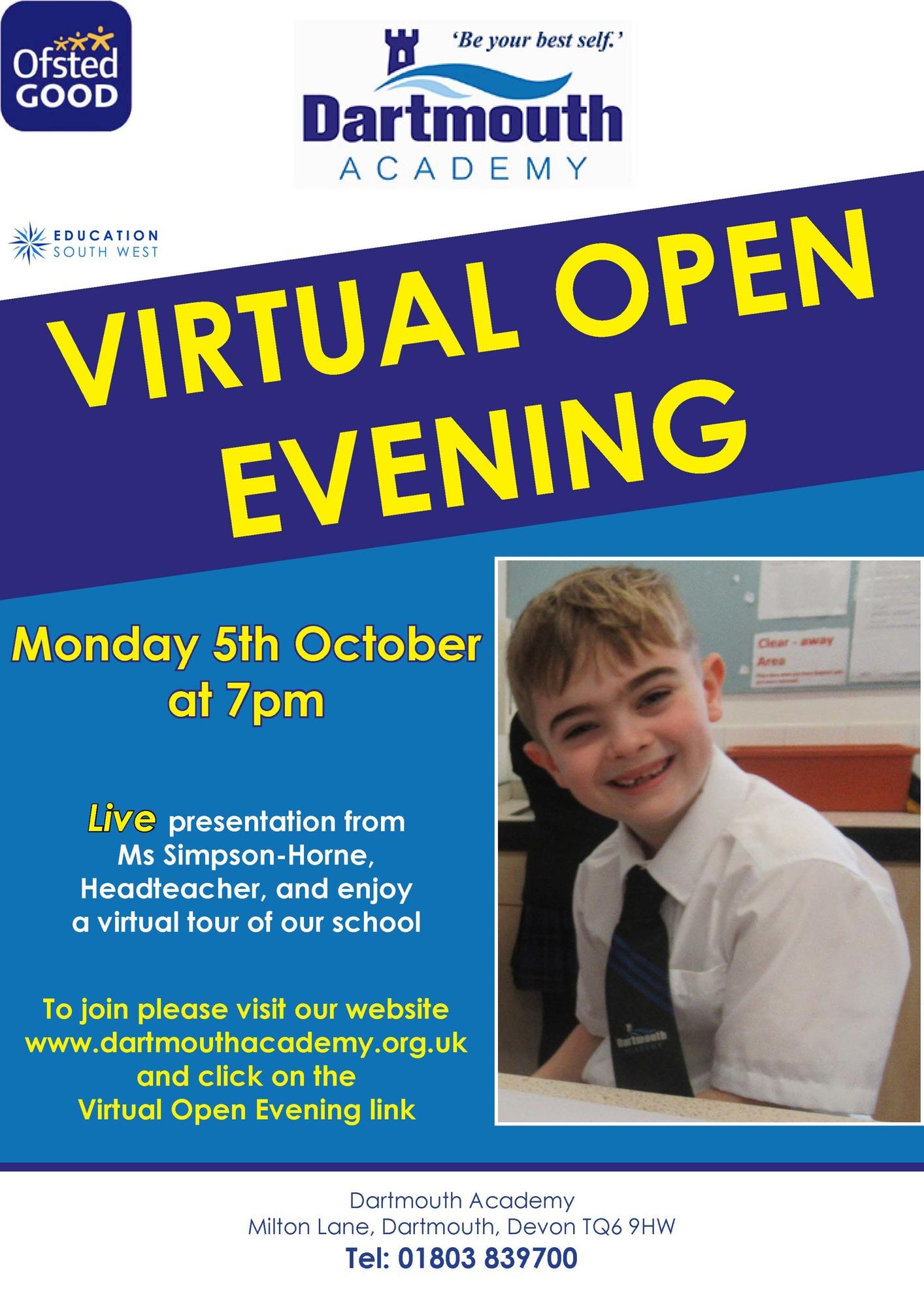 Dar virtual open day poster sep 20