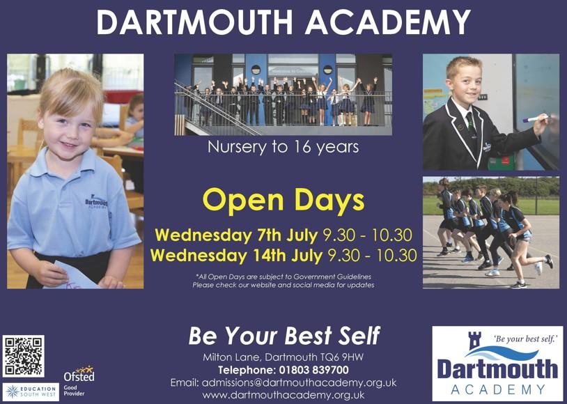 Dar open days poster jun 2021